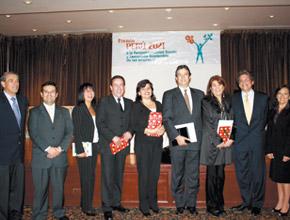 Empresas ganadoras en la VI Edición del Premio Perú 2021.