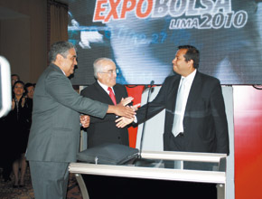 Ministro Ismael Benavides durante la inauguración de la Expobolsa 2010.