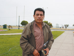 Pepe Julio Gutiérrez Zevallos, presidente del Frente Amplio de Defensa del Valle de Tambo.