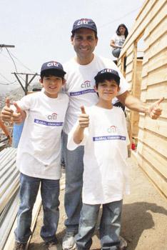 Gerente general José Antonio Blanco junto a sus hijos Nicolás y Cristóbal