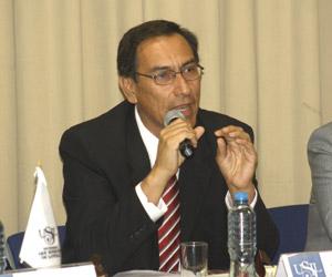 El presidente regional de Moquegua, Martín Vizcarra.