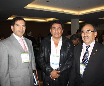 Guillermo Vidalón, Pepe Julio Gutierrez y Jorge Huamán
