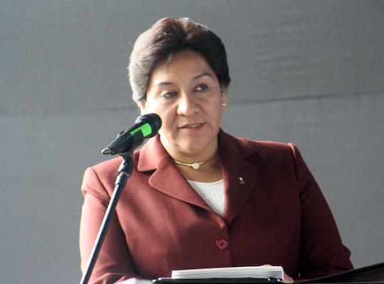 Susana Vilca, presidenta del Ingemmet.