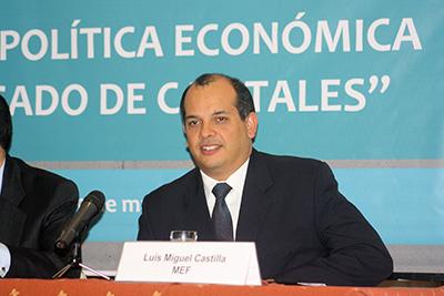 Ministro de Economía y Finanzas, Luis Miguel Castilla