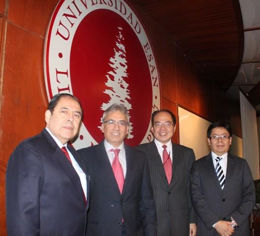 Ing. Del Carpio, Jhony García-Interbank, Estuardo Lu y Joseph Ballon.