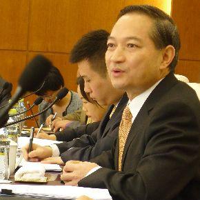 Ministro asistente encargado de los asuntos de America Latina de la Cancillera china, Zhang Kunsheng.
