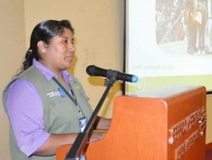 Sra. Delia Chana beneficiaria del proyecto