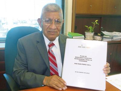 Juan Carlos Huyhua, presidente y gerente general de Doe Run Perú.