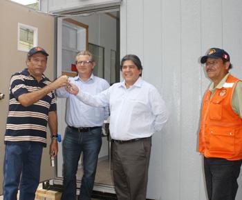 Alcade de Chosica, Luis Bueno; gerente general de Tecno Fast Atco, Jerome Balay y presidente del directorio de Tecno Fast Atco, Rafael Fernández-Stoll