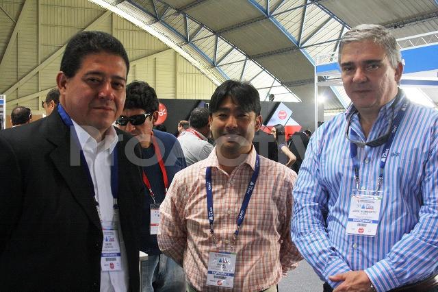Diego Andrade, Daniel Hokama y José Humberto López