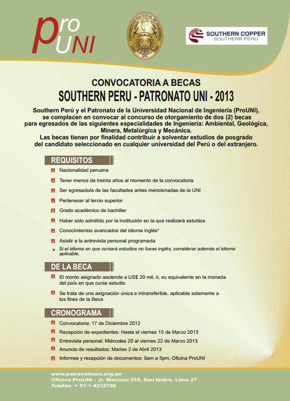 Becas Southern Perú.