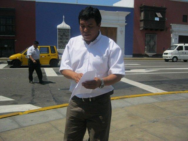 Alcalde de la provincia de Santiago de Chuco en La Libertad, Juan Gabriel Alipio.
