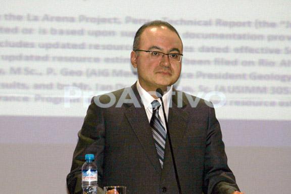 Victor Gobitz Colchado, COO y director, de Río Alto Mining.