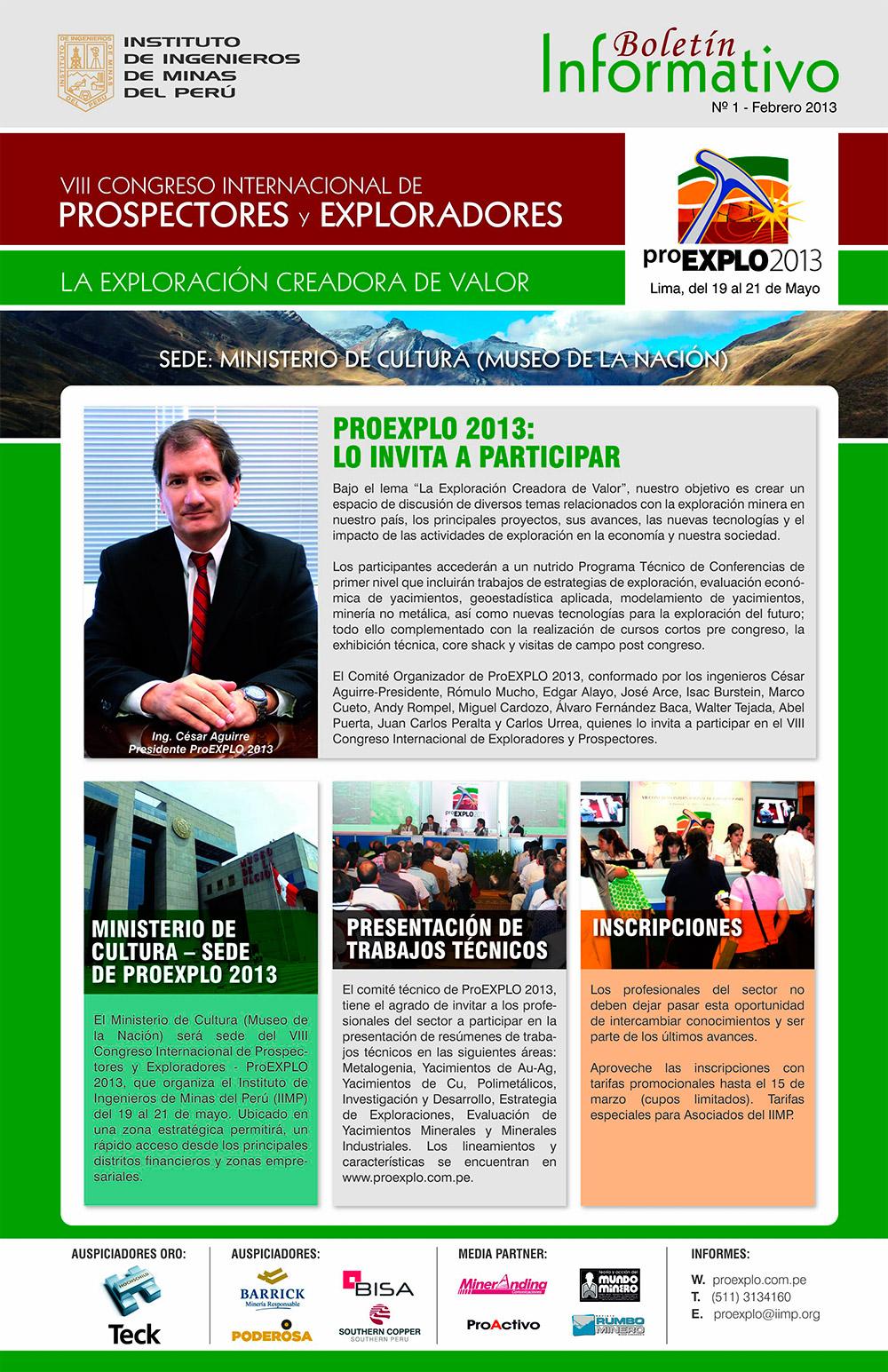 PROEXPLO 2013 - Boletín