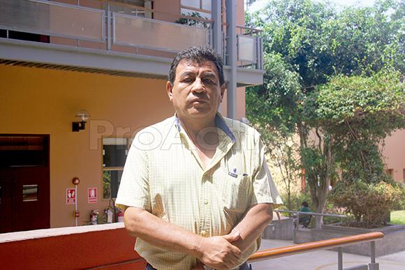 Pepe Julio Gutierrez, presidente del Frente Amplio de Defensa del Valle de Tambo.