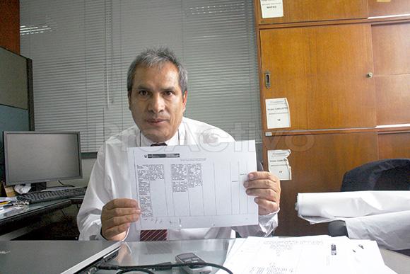 Victor Carlotto, director de Geología Regional, del Ingemmet.