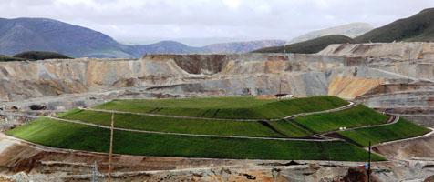 Se revegetarán 22 hectáreas con cierre de botadero central de Tintaya