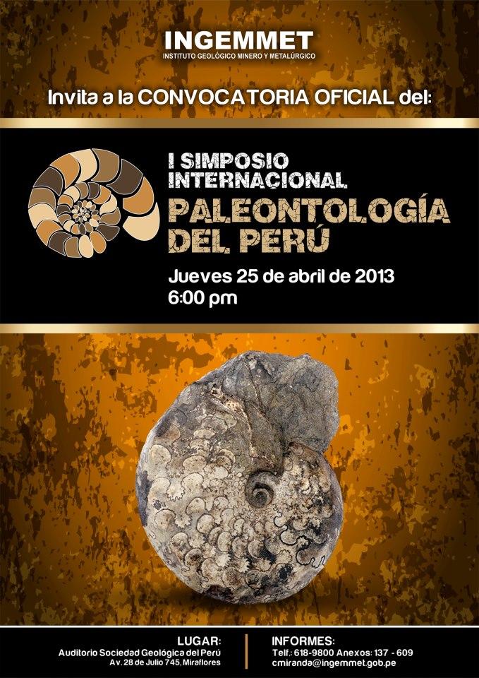 Simposio Internacional de Paleontología del Perú