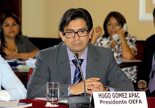 Hugo Ramírez Gómez, presidente de la OEFA.