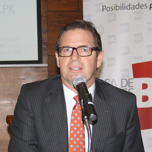 Erick Edwards, Presidente de Lupaka Gold.
