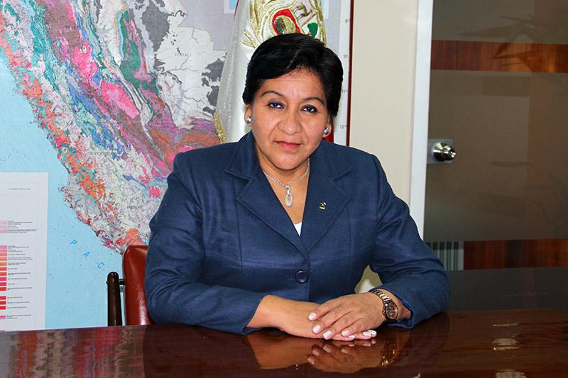 Susana Vilca, presidente del Instituto Geológico Minero y Metalúrgico (Ingemmet).