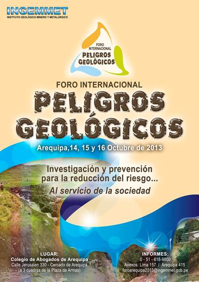 Foro Internacional de Peligros Geologicos