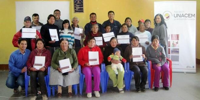 UNACEM capacita a comunidades en Tarma