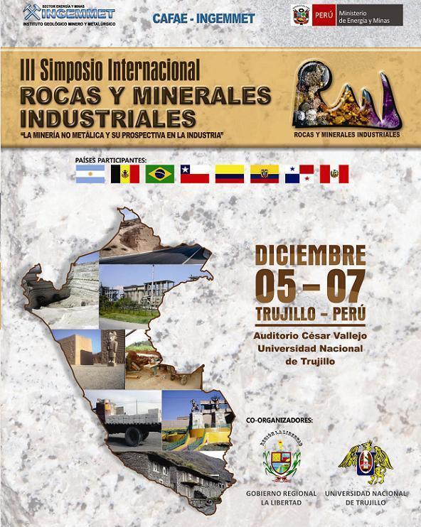 III SIMPOSIO INTERNACIONAL ROCAS Y MINERALES INDUSTRIALES