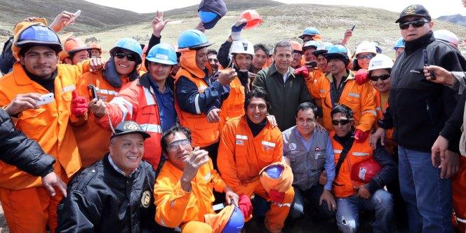 Presidente Humala coloca primera piedra de proyecto de riego en Áncash