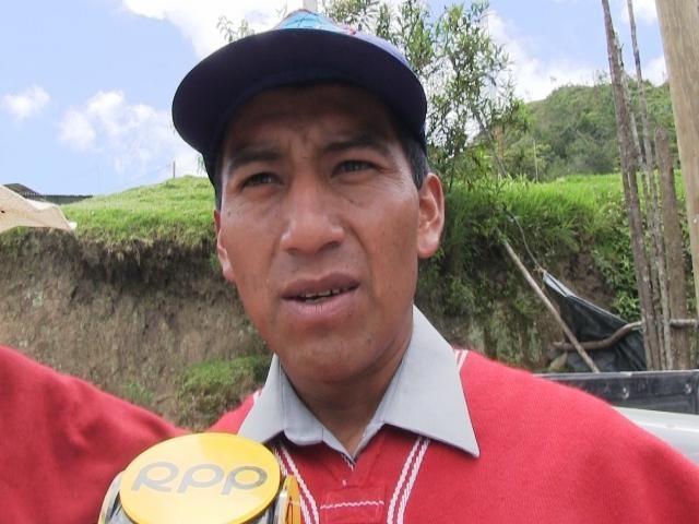 Florentino Barrios, presidente de la comunidad San Juan Cañaris.
