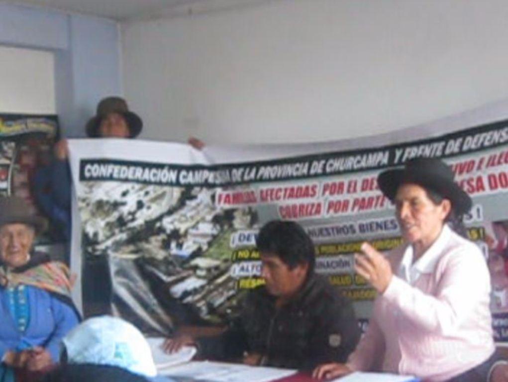 Huancayo pobladores desalojados piden reubicación a Doe Run