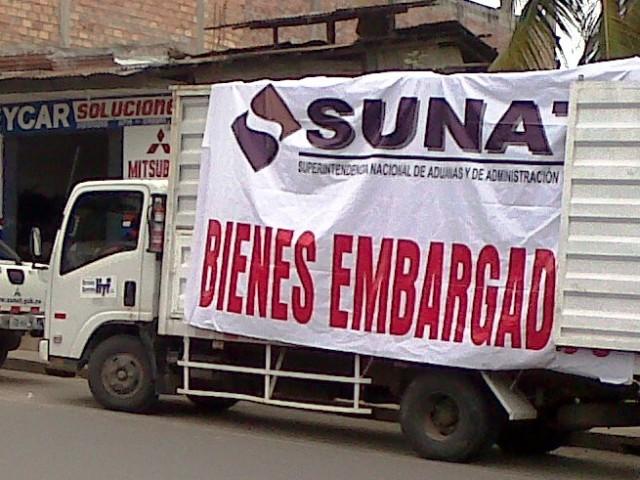 Sunat subastará bienes embargados