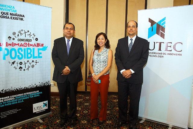 Alberto Bejarano, Juana Kuramoto y Carlos Heeren