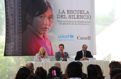 Canadá y UNICEF impulsan igualdad de género en educación