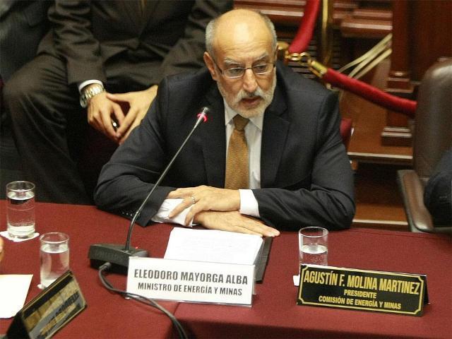 Eleodoro Mayorga, Ministro de Energía y Minas.
