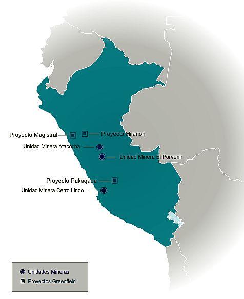 mapa Milpo