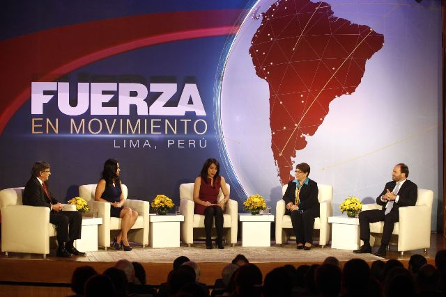 En programa de prestigiosa cadena televisiva CNN.Foto: Andina