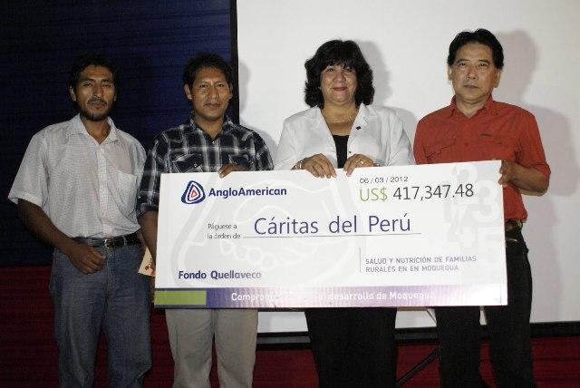 Anglo American entregará cheques a proyectos ganadores