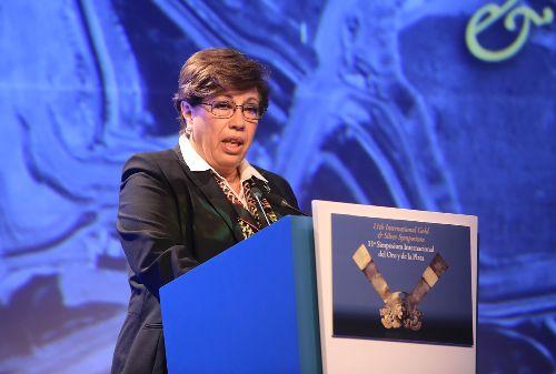 Eva Arias, presidenta de la Sociedad Nacional de Minería, Petróleo y Energía (SNMPE). (Foto: Andina)