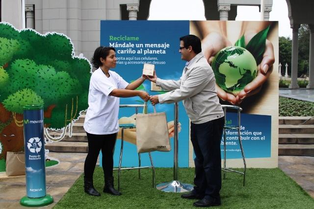 """Movistar Participa de """"Recíclame"""" en la Expo Maratón Lima 42K"""