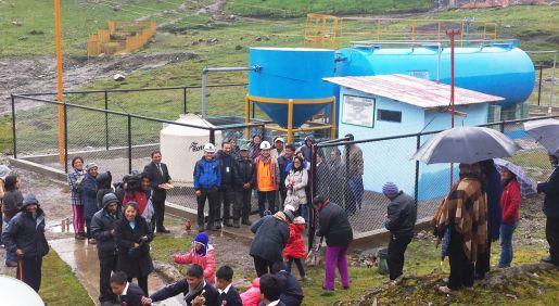 Proyecto de agua potable y saneamiento implicó una inversión de S/. 4.1 millones. Unos 1,460 pobladores de San Juan serán beneficiados, según la empresa minera.