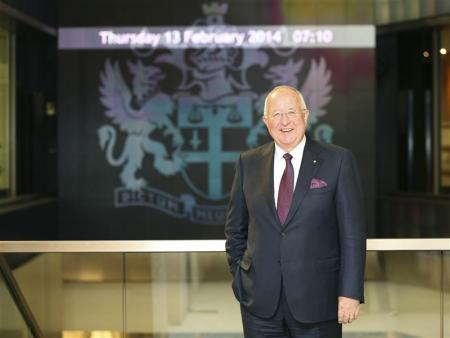 El presidente ejecutivo de Rio Tinto, Sam Walsh, en la Bolsa de Valores de Londres, feb 13 2014
