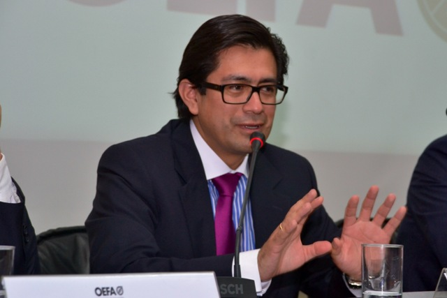 Hugo Gómez Apac, presidente del Consejo Directivo del OEFA