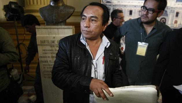 """Dirigente Víctor Chanduví sostiene que primera dama pidió a este gremio su """"apoyo incondicional"""" para Ollanta Humala.(Foto: Perú21)"""