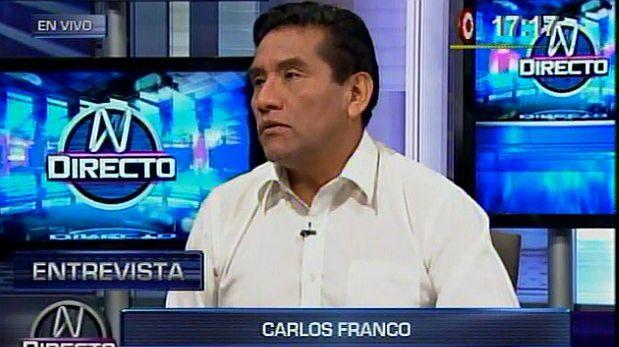 Carlos Franco Pacheco fue quien hizo la primera denuncia del Caso Helios. Según Infogob, milita en Acción Popular. (Foto: Captura Canal N)