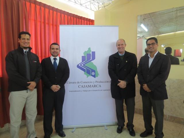 Alrededor de 34 proveedores cajamarquinos participaron en la Rueda de Negocios que se realizó en la Cámara de Comercio y Producción de Cajamarca (CCPC).