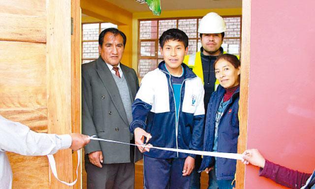 Desarrollo. Son 418 alumnos favorecidos en Espinar.Foto: La República