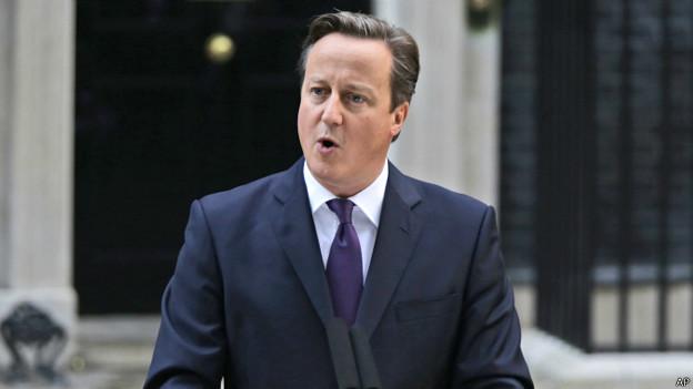 """Cameron dijo que, al igual que Escocia, los pueblos de Inglaterra, Gales e Irlanda del Norte tendrán una """"mayor voz"""" en sus asuntos."""