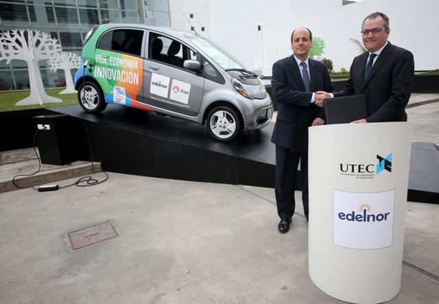 Carlos Heeren, Director Gerente General de UTEC e Ignacio Blanco, Director Gerente General de Edelnor- Enel.