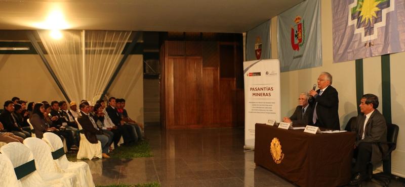 Líderes regionales de Apurímac Cajamarca Puno, Junín y Ayacucho en XXII Pasantía Minera